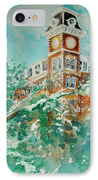 Ice On Old Main IPhone Case by Robin Miller-Bookhout