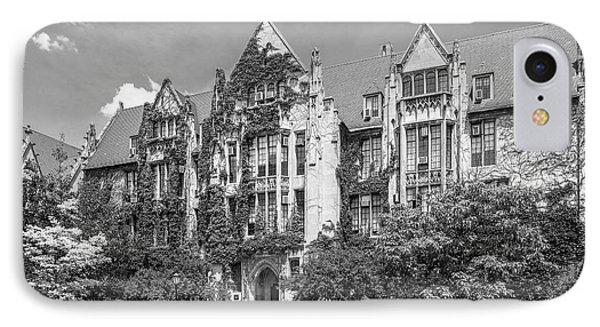 University Of Chicago Eckhart Hall IPhone Case by University Icons