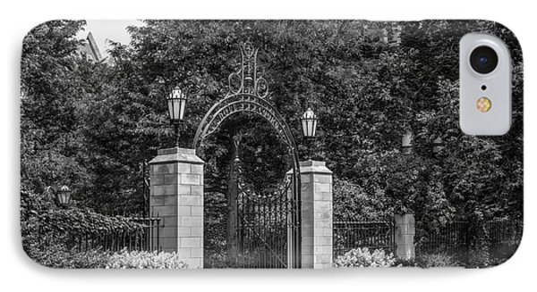 University Of Chicago Hull Court Gate IPhone Case by University Icons
