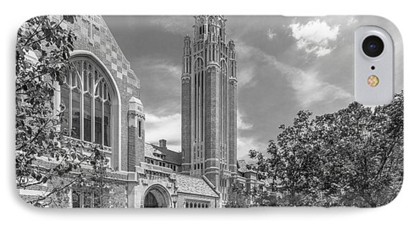 University Of Chicago Saieh Hall For Economics IPhone Case by University Icons