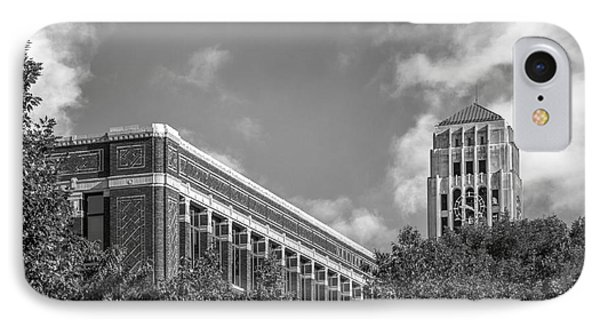 University Of Michigan Natural Sciences Building With Burton Tower IPhone Case by University Icons