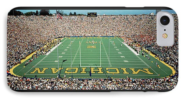 University Of Michigan Stadium, Ann IPhone Case by Panoramic Images