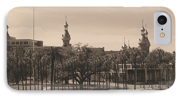University Of Tampa With Old World Framing Phone Case by Carol Groenen