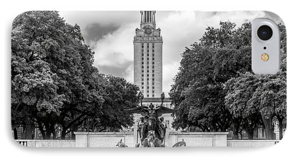 University Of Texas Austin Littlefield Fountain IPhone Case by University Icons