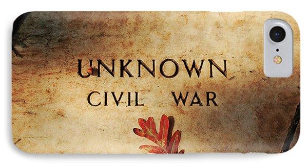 Unknown Civil War Phone Case by Kathleen K Parker
