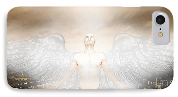Urban Angel IPhone Case by Carrie Jackson