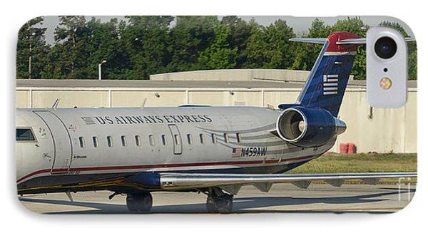 Us Airways Express Jet Plane IPhone Case by David Oppenheimer