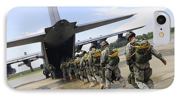 U.s. Army Rangers Board A U.s. Air Phone Case by Stocktrek Images