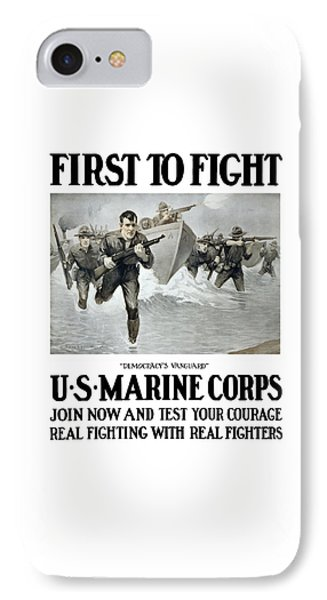 Us Marine Corps - First To Fight  IPhone Case by War Is Hell Store