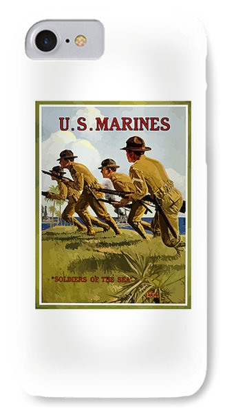 Us Marines - Soldiers Of The Sea IPhone Case by War Is Hell Store