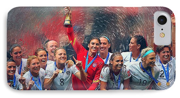 Us Women's Soccer IPhone Case by Semih Yurdabak