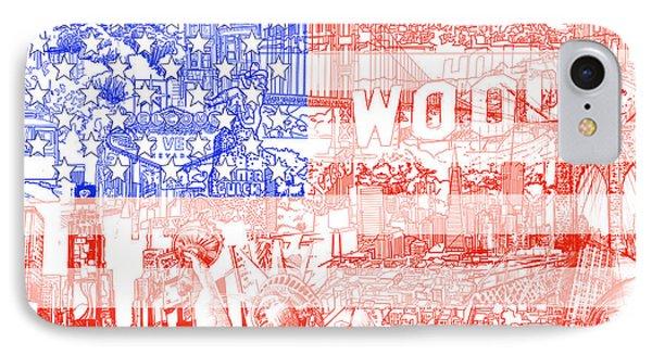 Usa Flag 1 IPhone Case by Bekim Art