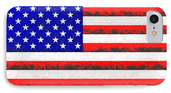 Usa Flag  - Free Colorful Style -  - Da IPhone Case by Leonardo Digenio