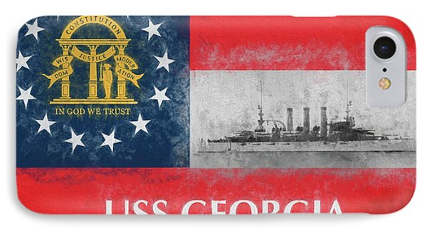 Uss Georgia Flagship IPhone Case by JC Findley