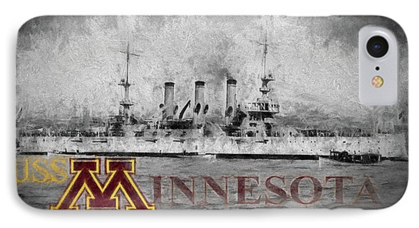 Uss Minnesota IPhone Case by JC Findley