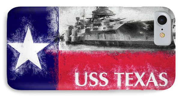 Uss Texas Flag IPhone Case by JC Findley