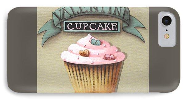 Valentine Cupcake Small Phone Case by Catherine Holman