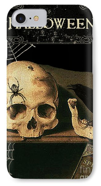 Vanitas Skull And Raven IPhone 7 Case by Striped Stockings Studio
