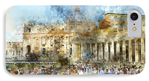 Vatican In Rome Italy IPhone Case by Brandon Bourdages
