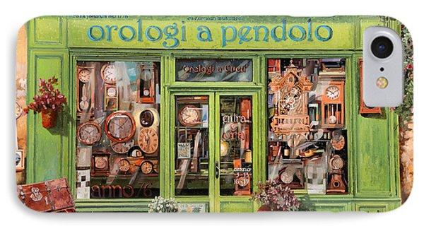 Vendita Di Orologi A Dondolo IPhone Case by Guido Borelli