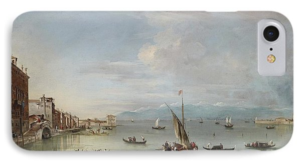 Venice  The Fondamenta Nuove With The Lagoon And The Island Of San Michele IPhone Case by Francesco Guardi