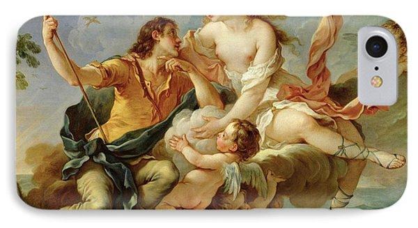 Venus And Adonis  IPhone Case by Charles Joseph Natoire