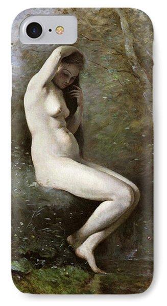 Venus Bathing Phone Case by Jean Baptiste Camille Corot