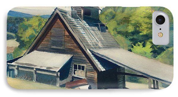 Vermont Sugar House IPhone Case by Edward Hopper