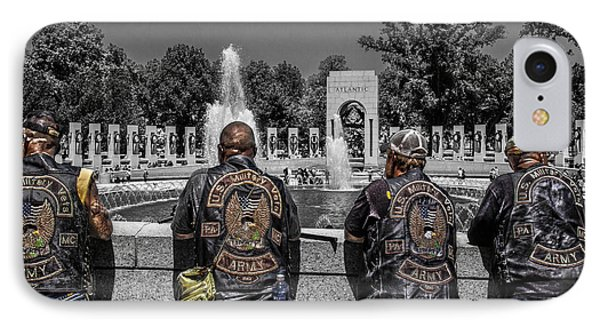 Veterans At The Wwii Memorial IPhone Case by Tom Gari Gallery-Three-Photography