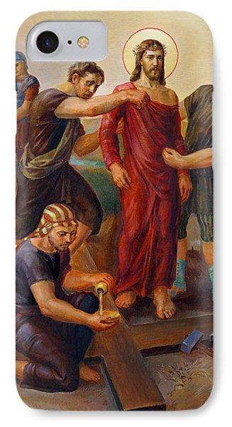 Via Dolorosa - Disrobing Of Christ - 10 IPhone Case by Svitozar Nenyuk