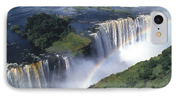 Victoria Falls Rainbow Phone Case by Sandra Bronstein