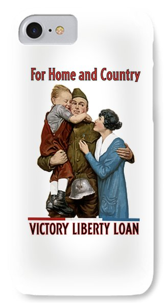 Victory Liberty Loan - World War One  IPhone Case by War Is Hell Store