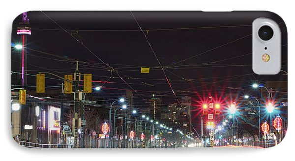 View Down Spadina Ave At Night. An IPhone Case by Will Burwell