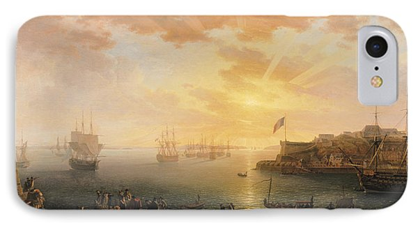 View Of Brest Harbor IPhone Case by Jean Francois Hue