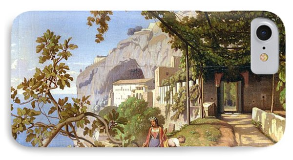 View Of Capri IPhone Case by Theodore Aligny