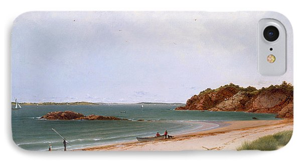 View Of The Beach At Beverly Massachusetts IPhone Case by John Frederick Kensett
