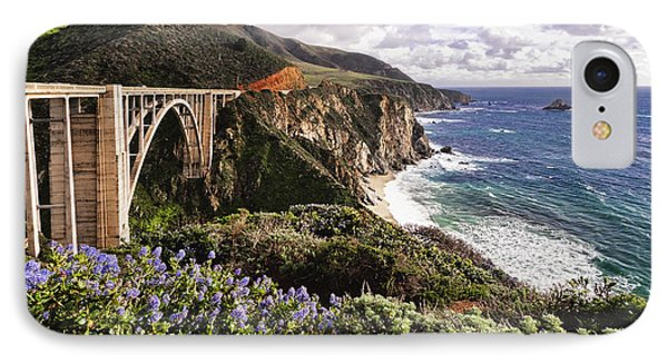 View Of The Bixby Creek Bridge Big Sur California IPhone Case by George Oze