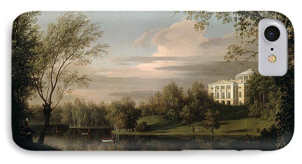 View Of The Pavlovsk Palace IPhone Case by Carl Ferdinand von Kugelgen