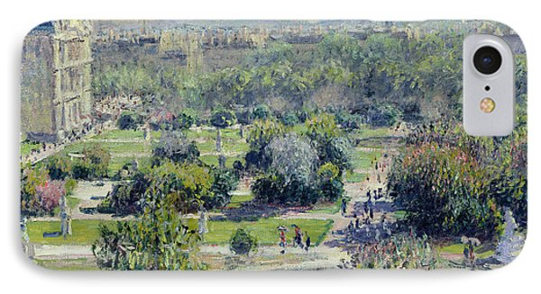 View Of The Tuileries Gardens Phone Case by Claude Monet