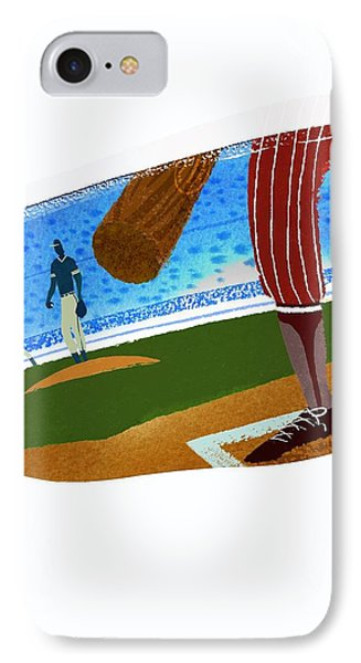 View Over Home Plate In Baseball Stadium IPhone Case by Gillham Studios