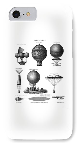 Vintage Aeronautics - Early Balloon Designs IPhone Case by War Is Hell Store