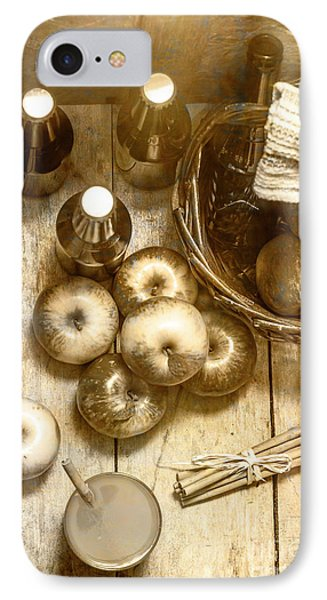 Vintage Apple Cider On Wood Crate IPhone Case by Jorgo Photography - Wall Art Gallery