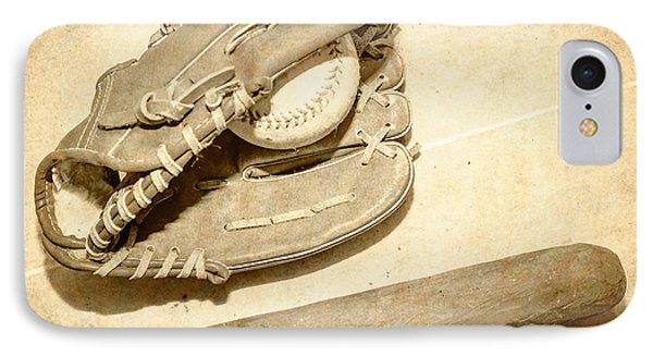 Vintage Baseball Still Life IPhone Case by Jorgo Photography - Wall Art Gallery