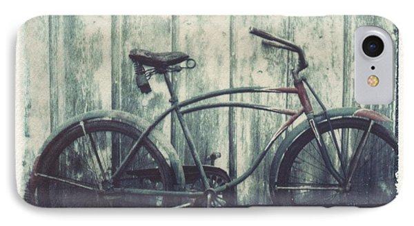 Vintage Bike Polaroid Transfer Phone Case by Jane Linders