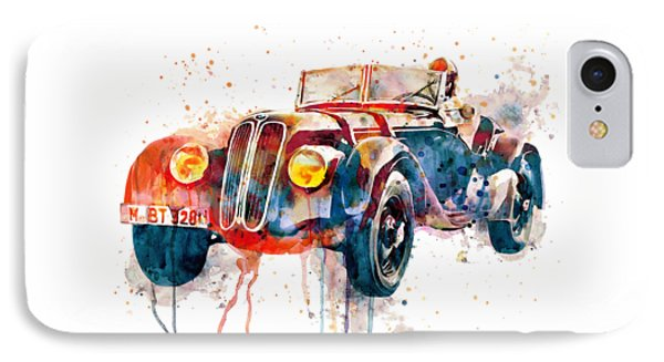 Vintage Bmw Watercolor IPhone Case by Marian Voicu