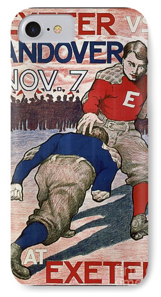 Vintage College Football Exeter Andover IPhone 7 Case by Edward Fielding
