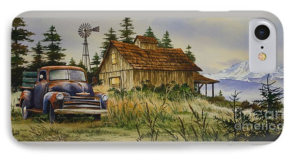 Vintage Country Landscape IPhone Case by James Williamson