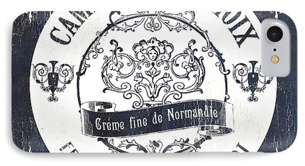 Vintage French Cheese Label 3 IPhone Case by Debbie DeWitt