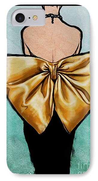 Vintage Glamour Fashion Dress IPhone Case by Mindy Sommers