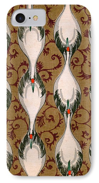 Vintage Japanese Illustration Of Cranes Flying IPhone 7 Case by Japanese School